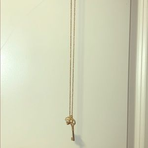 Cute Heart and Key Long necklace